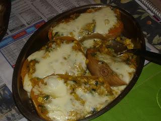 Calabazas Rellenas de Humita (Choclo-Maíz)