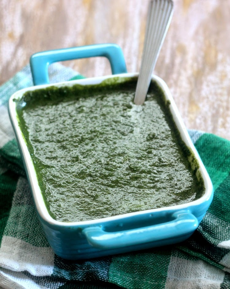 Palak Ki Chuntey, Healthy Spinach Dip