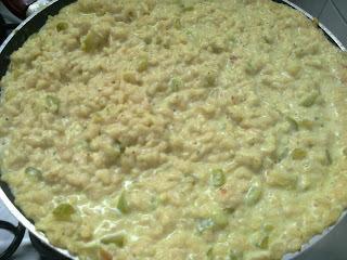 Risoto cremoso de abobrinha com queijos