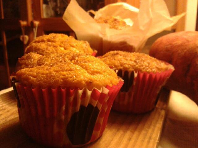 Muffins de boniato/batata con crunch de canela