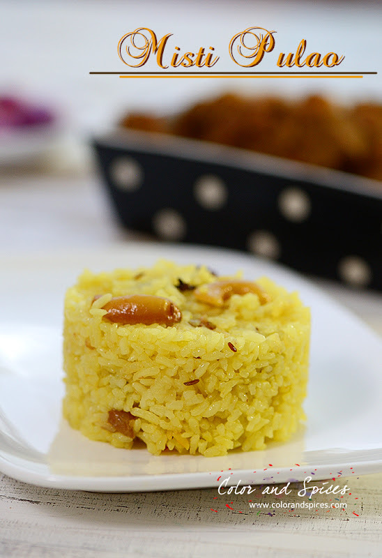 Misti pulao...Bengali style sweet pulao