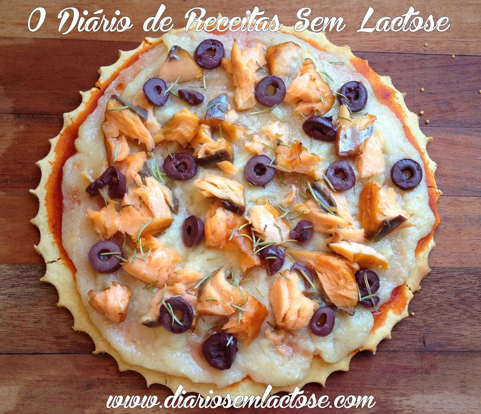 Pizza com Farinha de Grão de Bico
