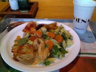 Almoço saudável no Viena