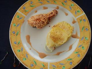 Frango assado com crosta de gergelim