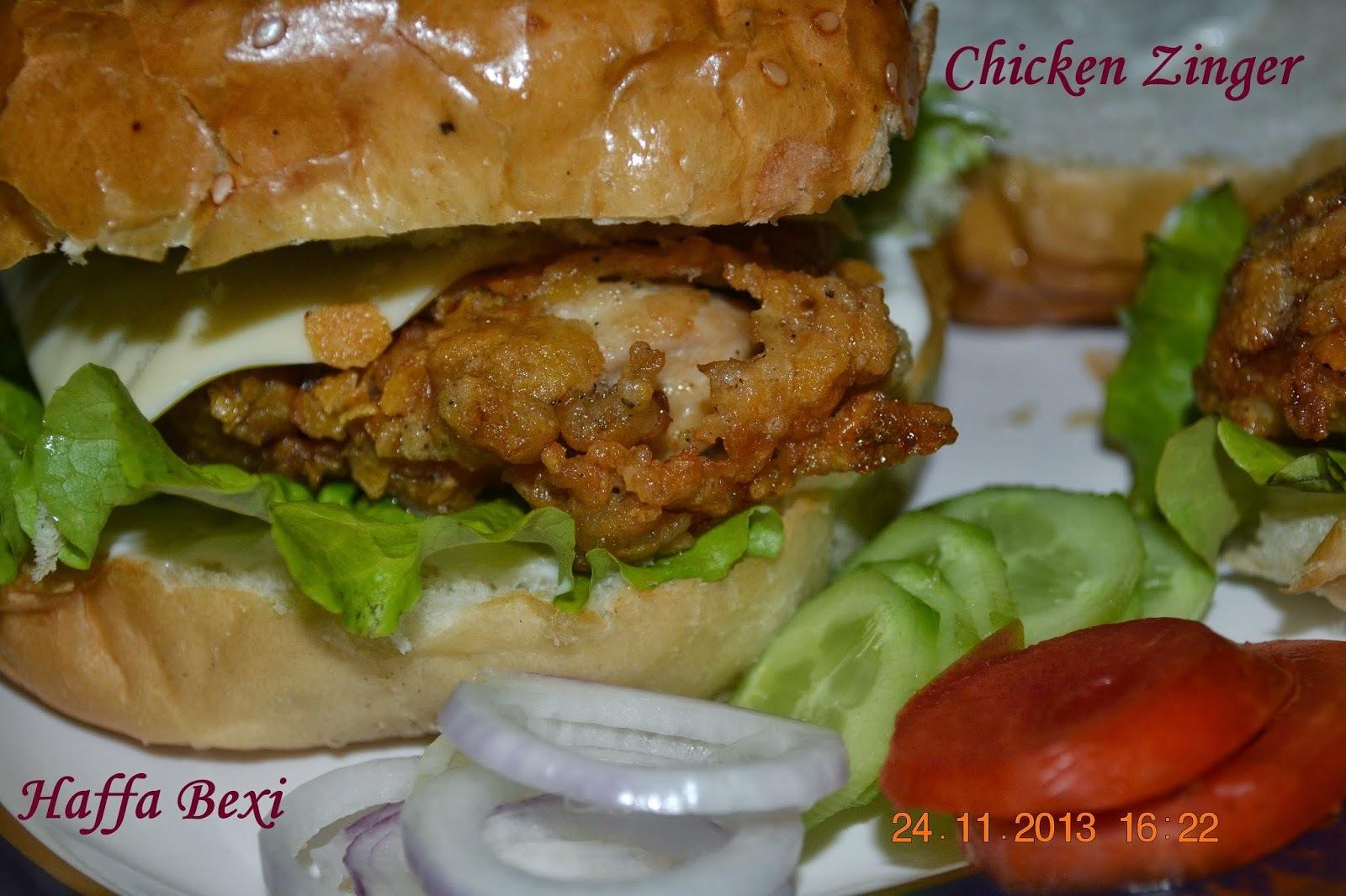 Chicken Zinger burger (KFC style)