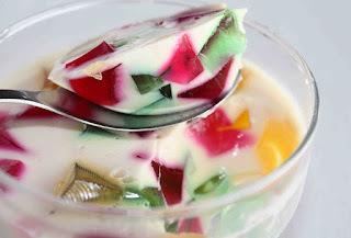 mosaico de gelatina como cortar gelatina em cubinhos