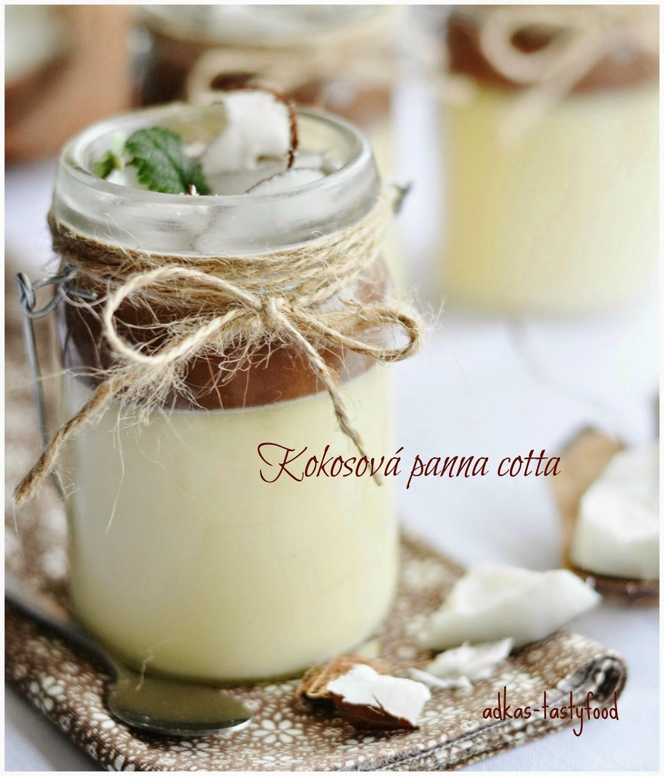 Kokosová panna cotta s čokoládovou polevou