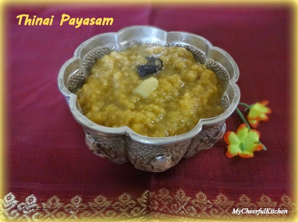 Thinai Payasam | Foxtail millet Kheer