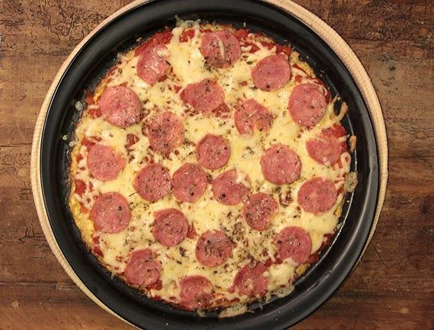 Pizza de couve-flor - SEM GLÚTEN