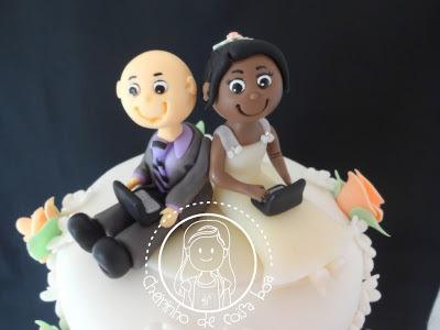 Bolo de casamento - Rosinhas
