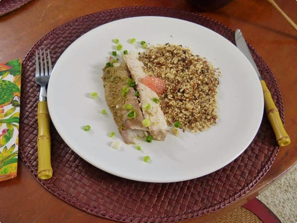 farofa para rechear peixe tambaqui