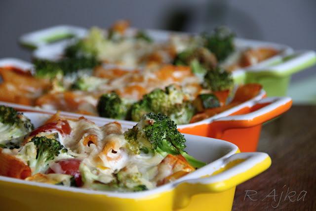 Zapekané cestoviny so syrom a zeleninou