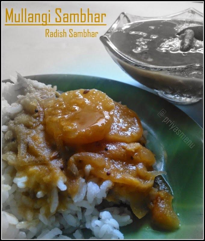 Mullangi Sambhar / Mooli Sambhar / Radish Sambhar