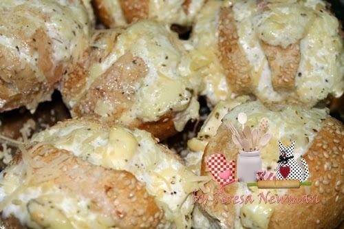 Sanfona de Pão Frances – Pão com recheio cremoso de queijo