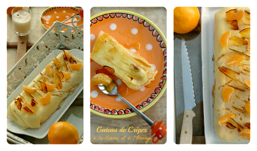 Gâteau de Crêpes à la crème et à l'Orange