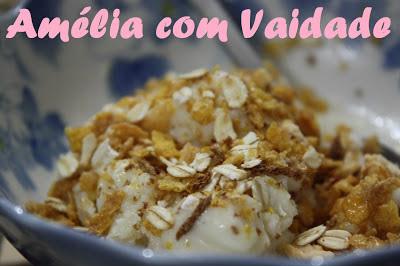 Frozen yogurt caseiro de kefir com banana e mel