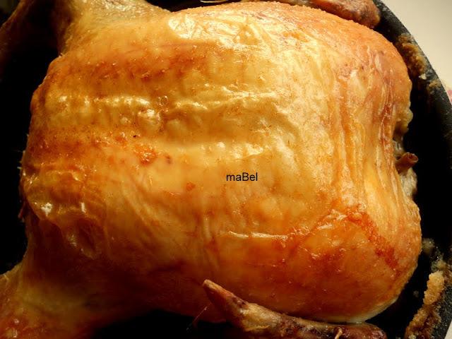 pollo con manteca saborizada