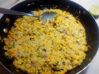 Biryani Vegetariano (indiano)... É o prato do dia!