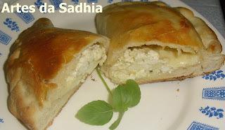 empanada com fermento de pão no liquidificador