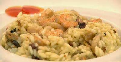 risoto polvo camarao arroz carnaroli