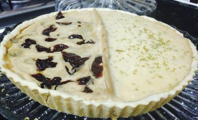Torta-duo de Limão com Goiabada e massa meio salgada (páte-sablée)