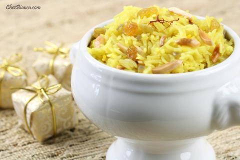 de arroz com açafrão e amendoas