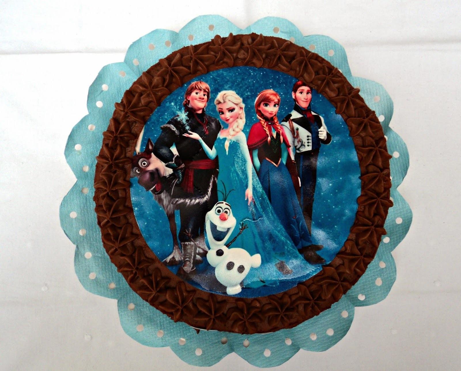 Tarta Frozen en piñata para Telma