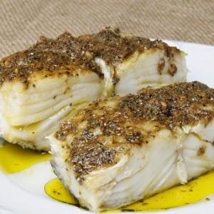 Bacalhau com Crosta de Linhaça, Chia e Sal Rosa