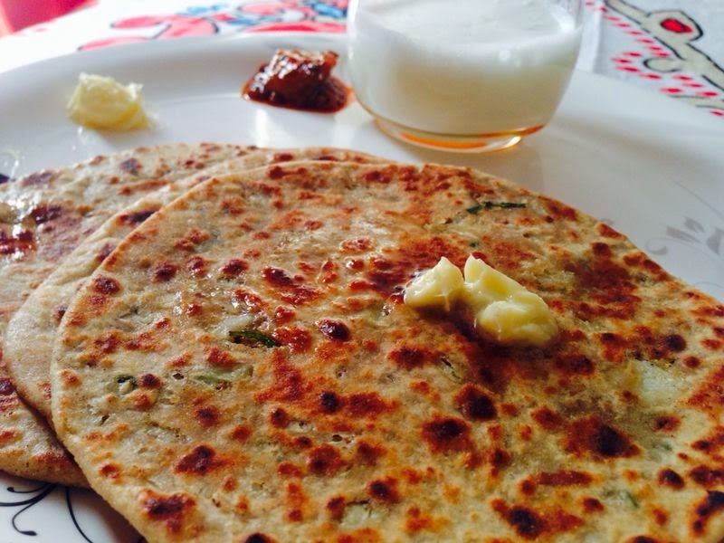 Gobhi Parathas (Cauliflower with Parathas)