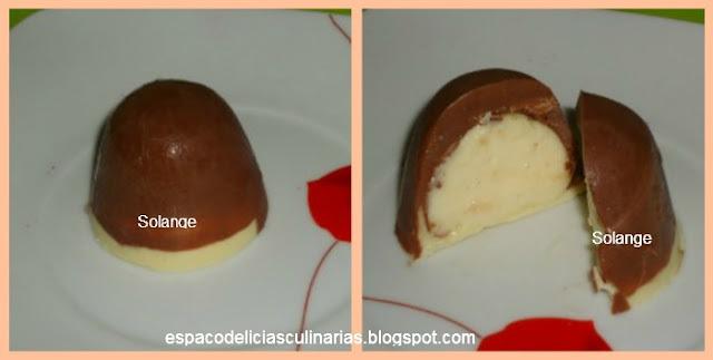 torta gelada com mousse de cupuaçu
