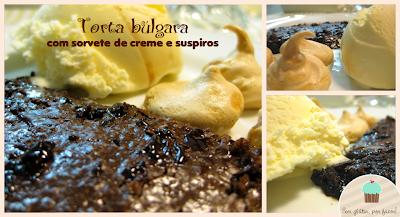Receita de hoje: torta búlgara com sorvete de creme e suspiros
