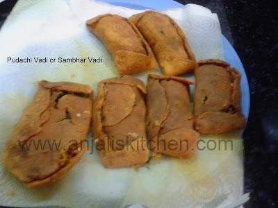 Pudachi Vadi or Sambhar Vadi
