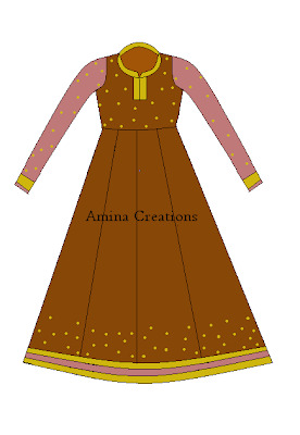 HOW TO STITCH ANARKALI SUIT WITH PANELS