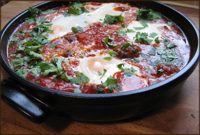 Kefta Mkaouara - Spicy Egg, Meatball and Tomato Tagine