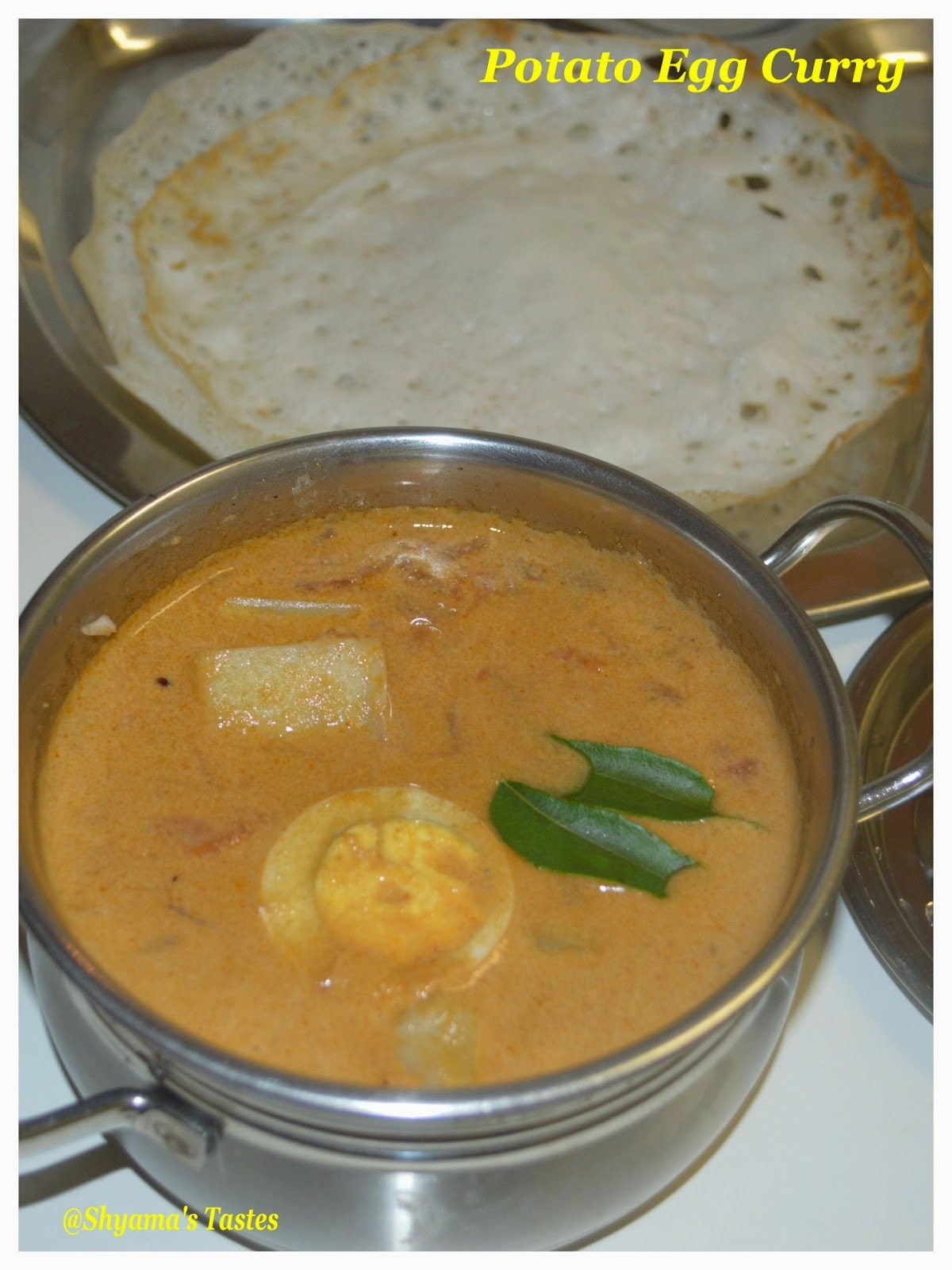 Potato Egg Curry with Coconut Milk