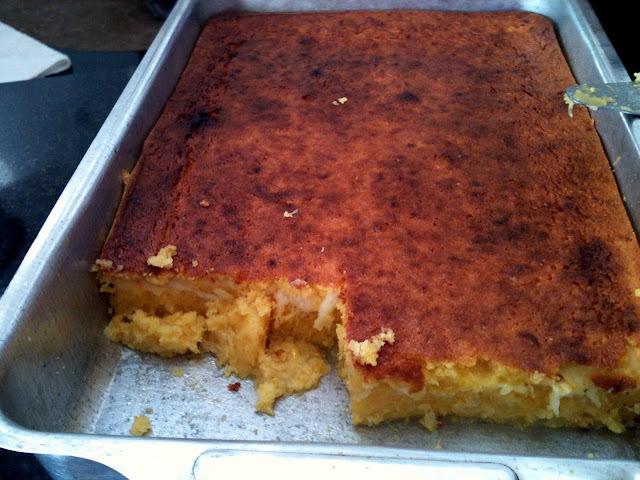 pamonha assada com queijo milho verde peneirada