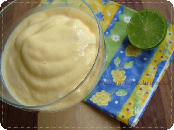 Creme de manga com limão