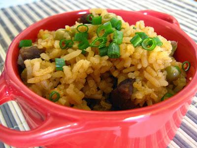 de arroz carreteiro com carne seca bem soltinho