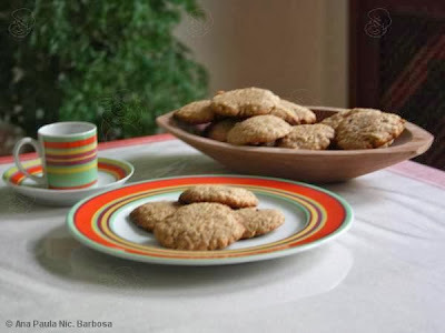 biscoito de aveia canela e farinha integral