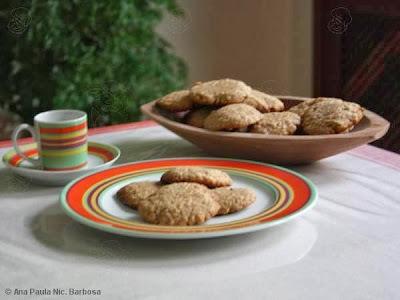 biscoito integral de aveia e banana