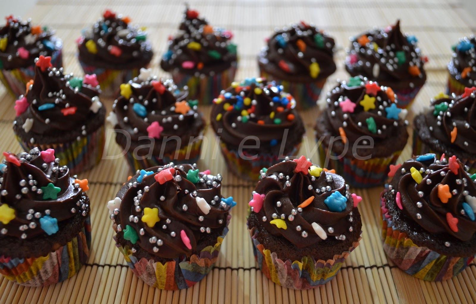 Mini Cupcake de Chocolate Duplo
