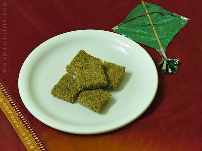 Tilgul Vadi (Sesame Seeds and Jaggery Fudge)