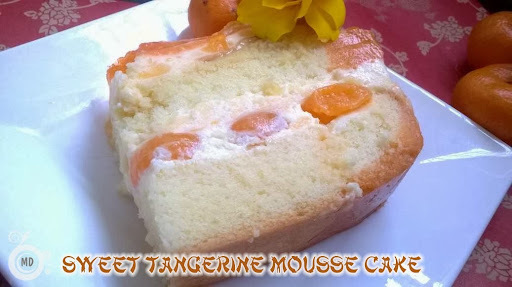 Sweet Tangerine Mousse Cake