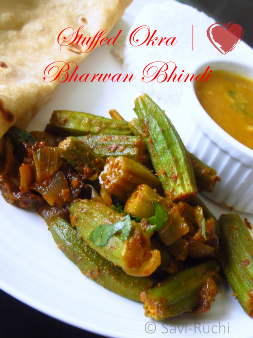 Bharwan Bhindi | Okra Stuffed with Indian Spices : Punjabi Recipes