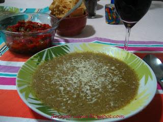 antepasto de beringela com alho poro