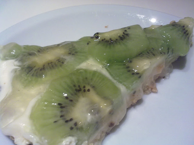 gelatina con crema de chantilly