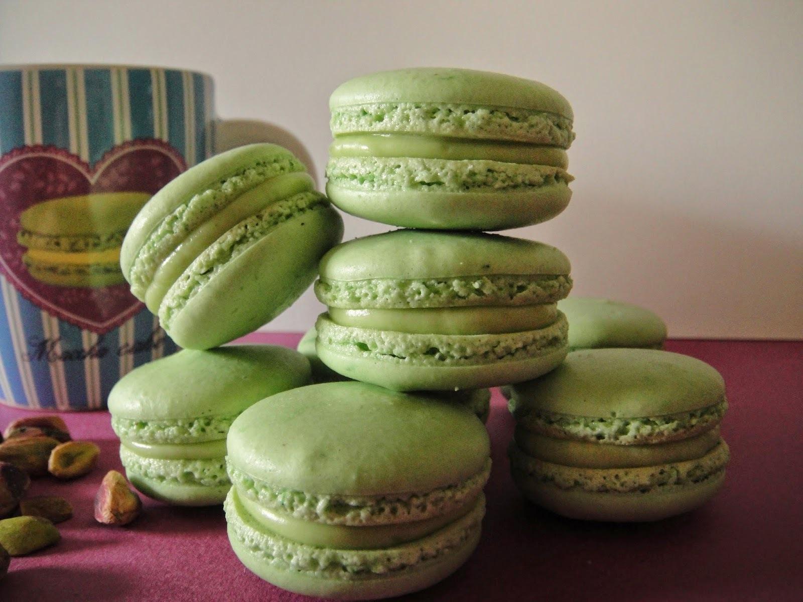 Macarons à la pistache (recette de Pierre Hermé)