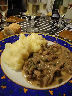 Menú para el fin de semana (Tiritas de lomo con crema y hongos)