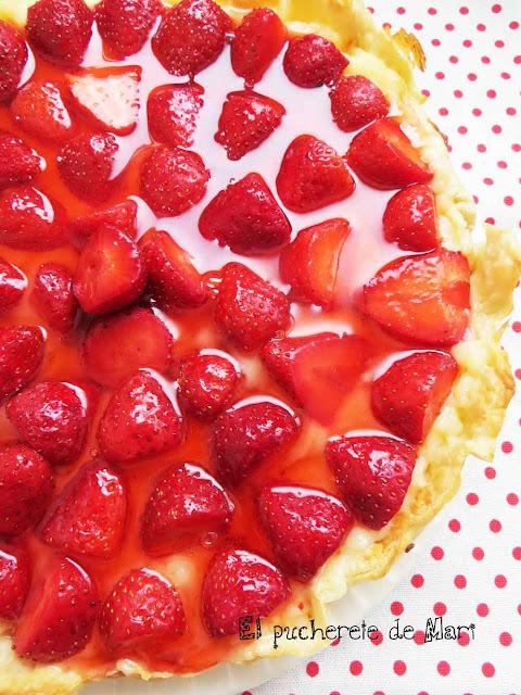 TARTA RÁPIDA DE FRESAS y de paso mermelada de fresas