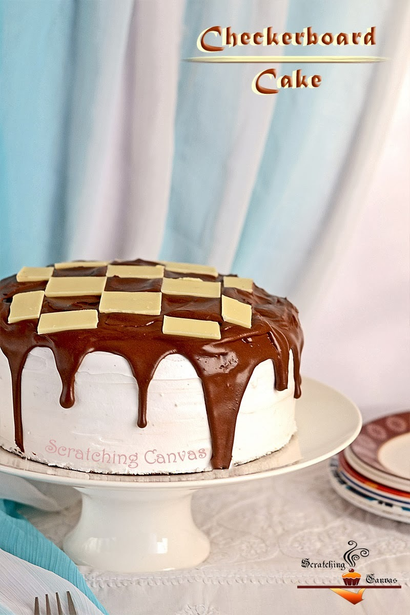 Classic Checkerboard Cake with Chocolate Mousse